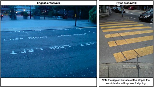 English vs. Swiss: Crosswalk