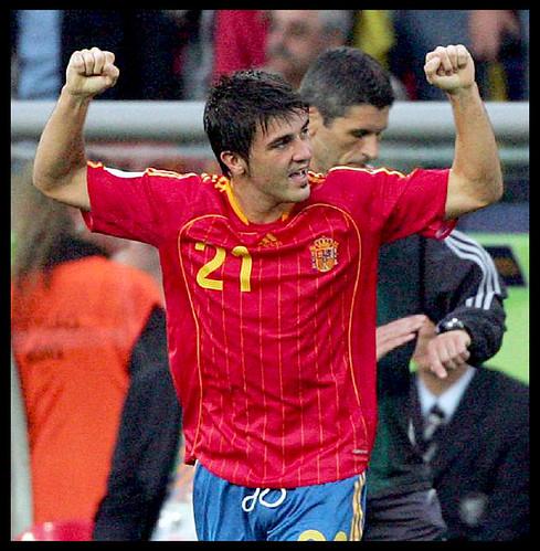 Imagenes de David Villa con la selección por David Villa 2008.