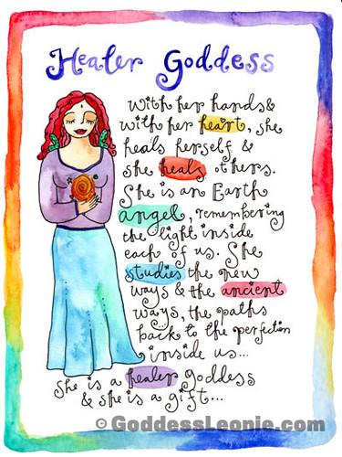 Healer Goddess: Art print