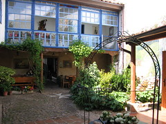 "Hospital de Orbigo Albergue Courtyard • <a style=""font-size:0.8em;"" href=""http://www.flickr.com/photos/48277923@N00/2622213235/"" target=""_blank"">View on Flickr</a>"