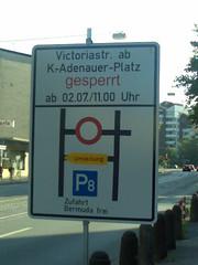Sperrung Victoriastraße (Bochum)
