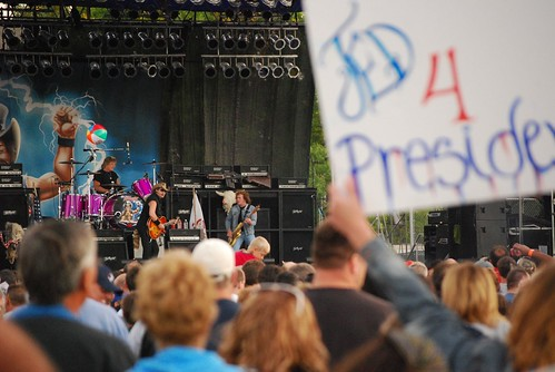 Ted Nugent in concert at Ribfest -- Ted 4 President