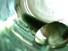 coloring - green (Yorktown Road) Tags: green still spoon coloring jar mixing textiles dye process residue fiberreactivedye ytr