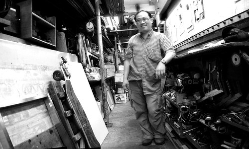 At Lee Kam Fai's metalwork shop in Hong Kong