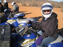 Me on the quad bike