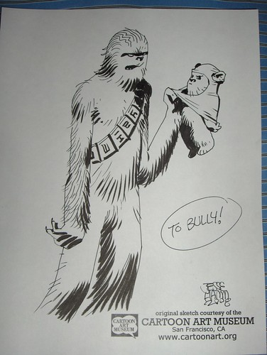 Chewbacca and Ewok, by Jesse Hamm