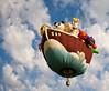 Sailing the skies (Joseph Hoetzl) Tags: newjersey canon20d nj ark ballons hotairballoons noahsark readington solbergairport 26thannualquickcheknewjerseyfestivalofballooning