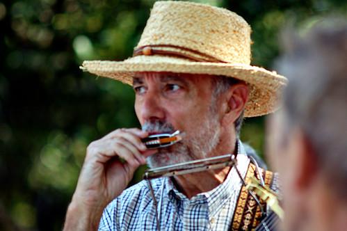 Harmonica player