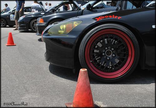 Black Deep Dish Rims With A Red Lip S2ki Honda S2000 Forums