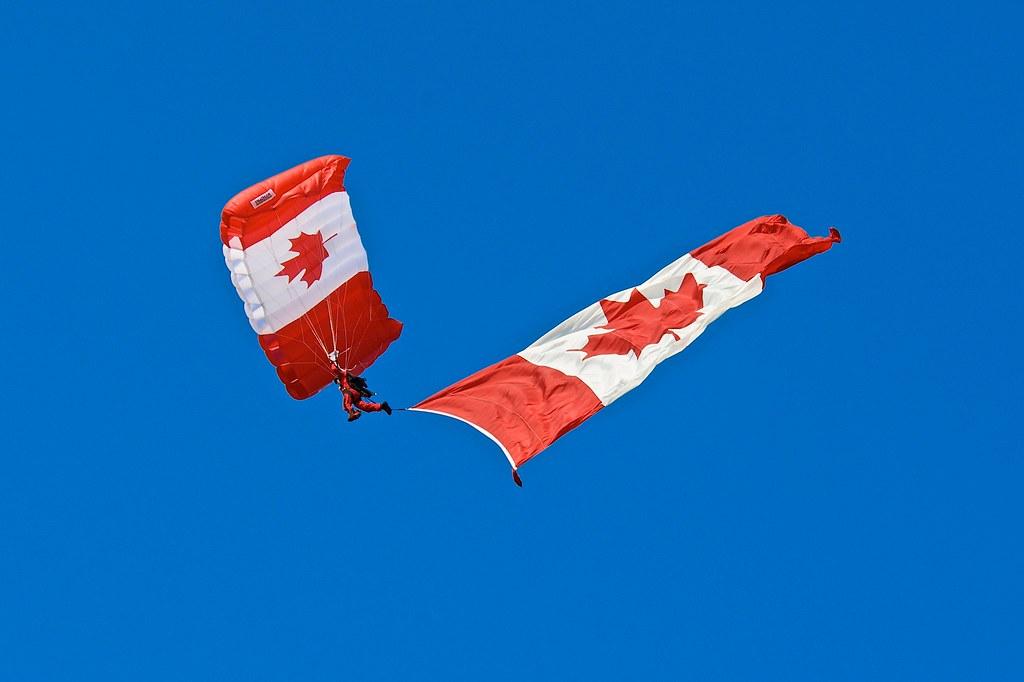 Skyhawk Parachute Team - Canadian Flag