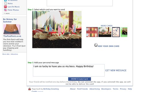 birthday cards on facebook