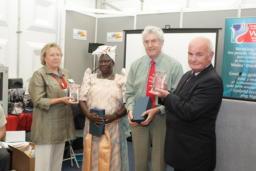 gold star award. Wales - Africa Gold Star Communities Awards Ceremony, National Eisteddfod,