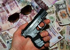 Crime dont pay...much (randomonix) Tags: money toy scotland gangster slick gun shades crime shady goodfellas scarface gangland deserteagle easye uzi9mm thebestofday gnneniyisi