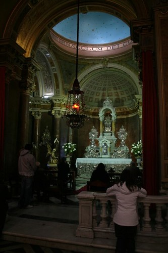 Inside the Central Cathedral. Santiago, Chile.