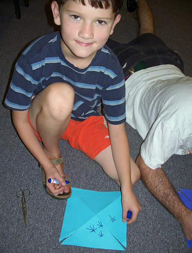 Ross making pinwheel