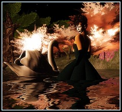 swan lake (El Greene) Tags: lake water photography swan avatar sl secondlife slfashionartphotography