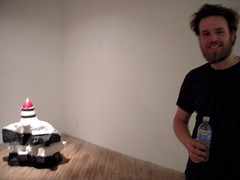 Jamie Dillon with his installation at Vox Populi