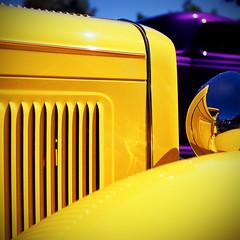 1930 Ford Model A (PeteVonTews) Tags: show hot 120 film colors car vintage square day fuji labor slide mat velvia rod medium format lm yashica derby kar kustom kulture