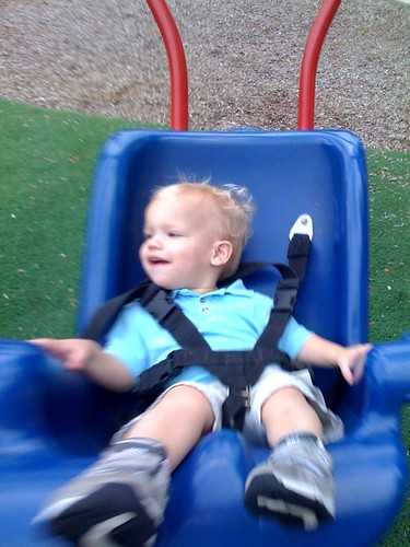 Eli enjoying the swing