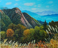 2008 20F   ()  autumn (wsc54972969) Tags: autumn mountains art taiwan   oilpainting    colourartaward