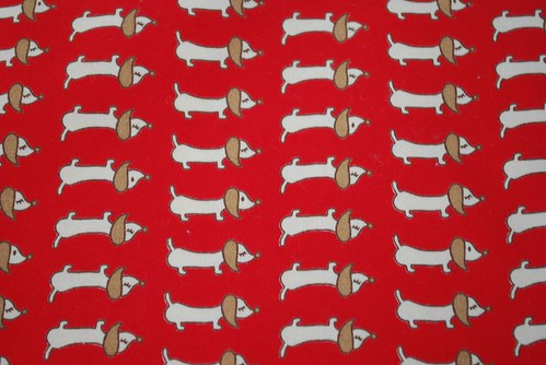 Sausage Dog fabric from Superbuzzy