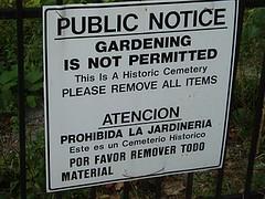 No Gardening