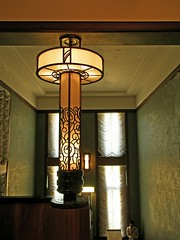 Art deco interior (tanakawho) Tags: lighting city light urban building texture window wall museum architecture tokyo design pattern interior ceiling staircase drape artdeco tanakawho