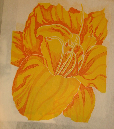 freesia ( lino cut) series