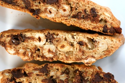 hazelnut cinnamon chocolate biscotti