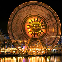 You Spin Me Right Round (StartedByAMouse) Tags: longexposure night square disney dca sunwheel disneyscaliforniaadventure paradisebay paradisepier interestingness108 i500 sbam 5stardisney
