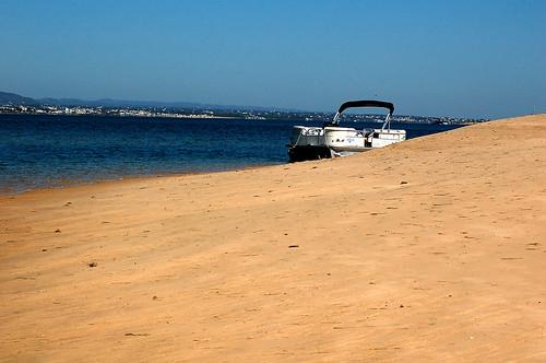 Passeio Barco Ria Formosa Ilha da Culatra Algarve Portugal. Natura Algarve