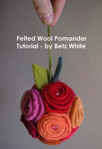tutorial flores de feltro