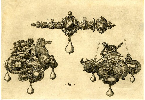 Pendant designs by Hornick, 1562