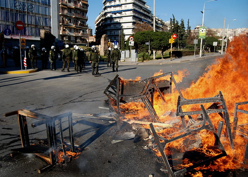 Greek riots enter third day