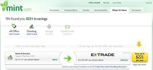 Mint personal finance tool