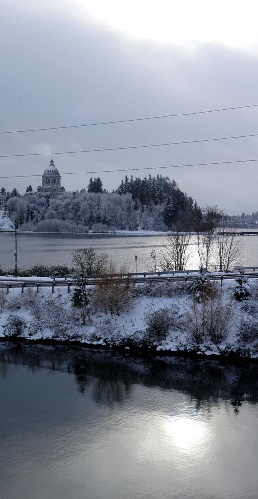 Snowy Capitol Scene