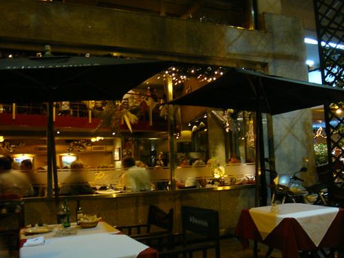 Restaurante visto desde la terraza