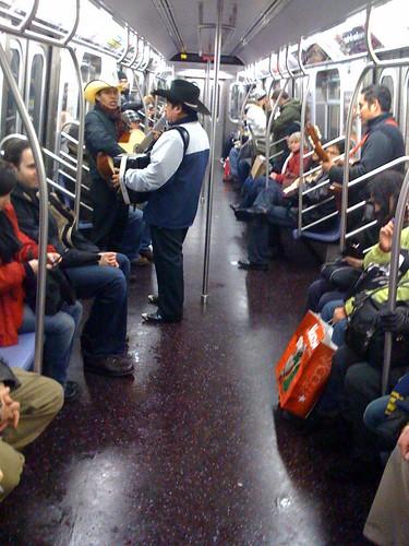 Nortenos on train