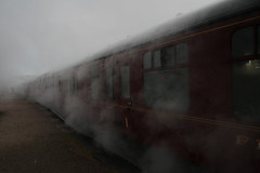Fade To Grey (Ian Lambert) Tags: mist cold fog scotland highlands searchthebest first class steam passenger aviemore damp steamtrain boatofgarten flickrlovers