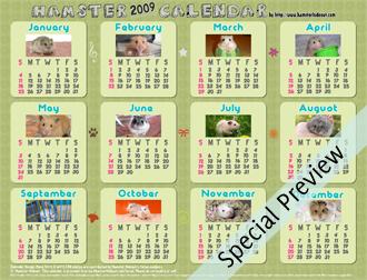 Free 2009 Hamster PDF Calendars!
