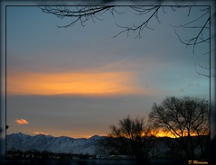 Sunset (Damndfool) Tags: trees winter sunset sky orange cloud sun white mountain snow mountains color tree clouds sunrise paint nevada tahoe genoa sierras minden gardnerville perfectsunset perfectsunrise