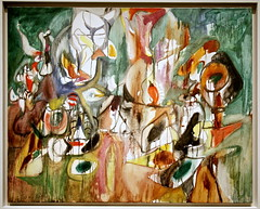 One Year the Milkweed, 1944, oil on canvas by Arshile Gorky (cliff1066) Tags: adoian americanart americanartmuseum arshile arshilegorky art artgallery artmuseum artist dc district districtofcolumbia eastbuilding exhibit gallery gorky manook museum national nationalartgallery nationalgallery nationalgalleryofart painting portrait portraitgallery sculpture smithsonian vosdanik vosdanikmanookadoian washington washingtondc oneyearthemilkweed oneyear milkweed