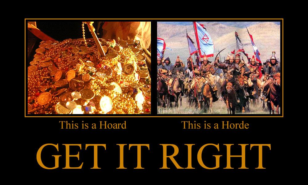 Hoard vs Horde