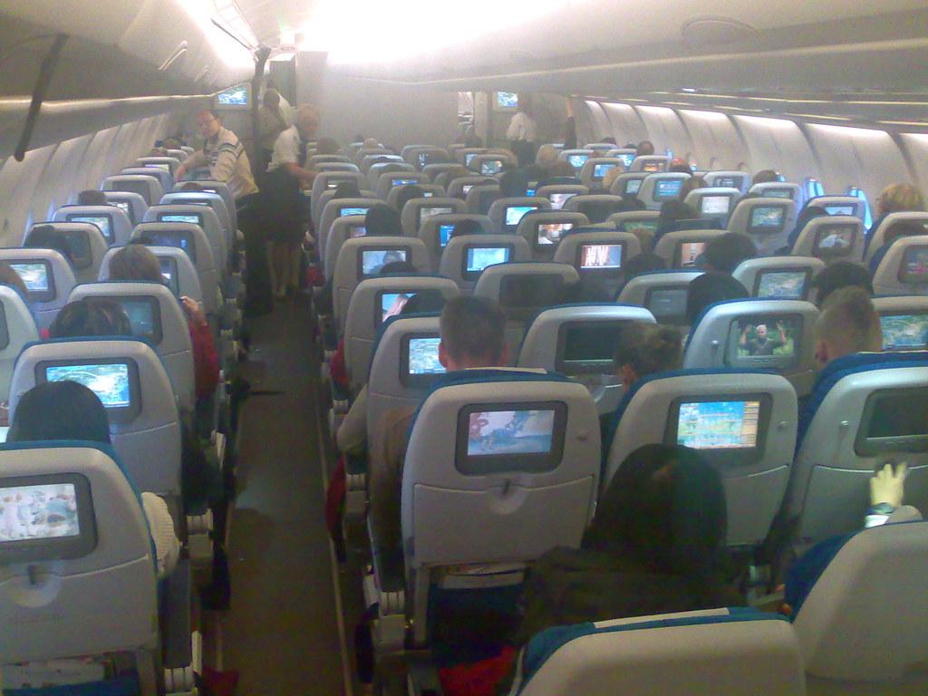 Business Flight Finnair Ay A340 Coach Cabin Photos