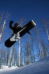Asessippi flying (matt_goerzen) Tags: blue winter snow canada sport resort manitoba snowboard xtreme asessippi