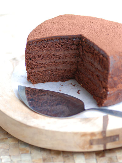 4 layer chocolate cake