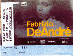 Tour 1997 [Bari] (cagiflickr) Tags: biglietto comunista faber tiket anarchia deandr anticlericale anarchico cagi yourcountry