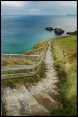 Off Causeway road (dave_olis_trip) Tags: blue ireland sea cliff nature stairs coast alone d70 northernireland thebestofday gnneniyisi daveolistrip