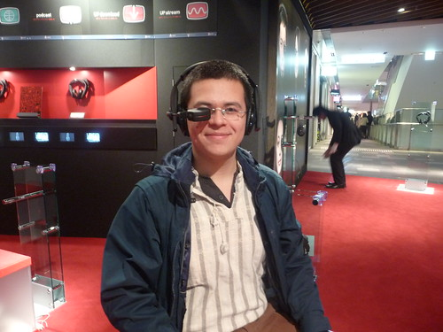 Head-mounted displays are SO the future. Look how happy I am!