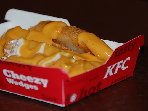 kfc cheesy wedges